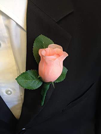 Fine Peach Garden Rose Boutonniere From Shea Christine A Love For