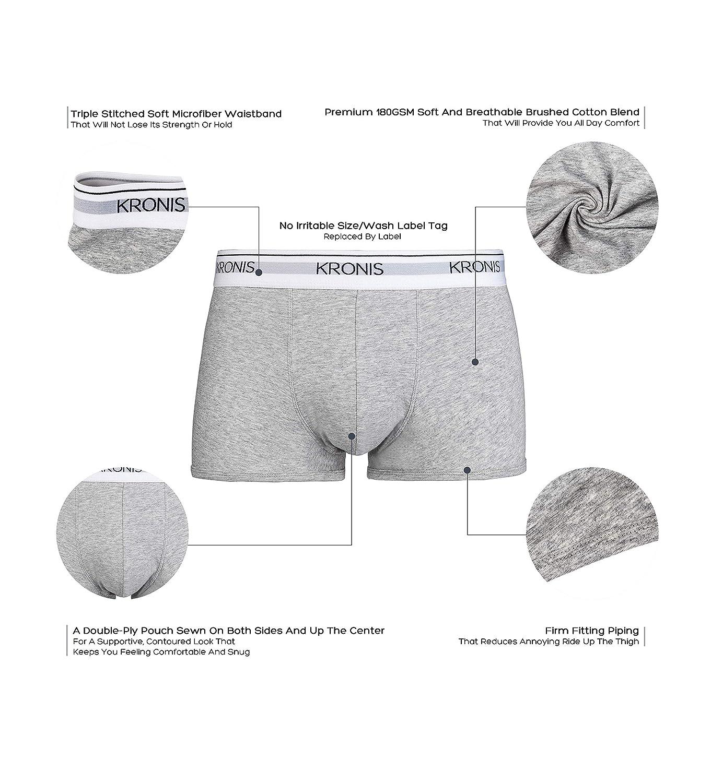 bf0a92358324 Amazon.com: KRONIS Mens Underwear Low Rise Trunks 2Pk Italian Designed Premium  180gsm Cotton: Clothing