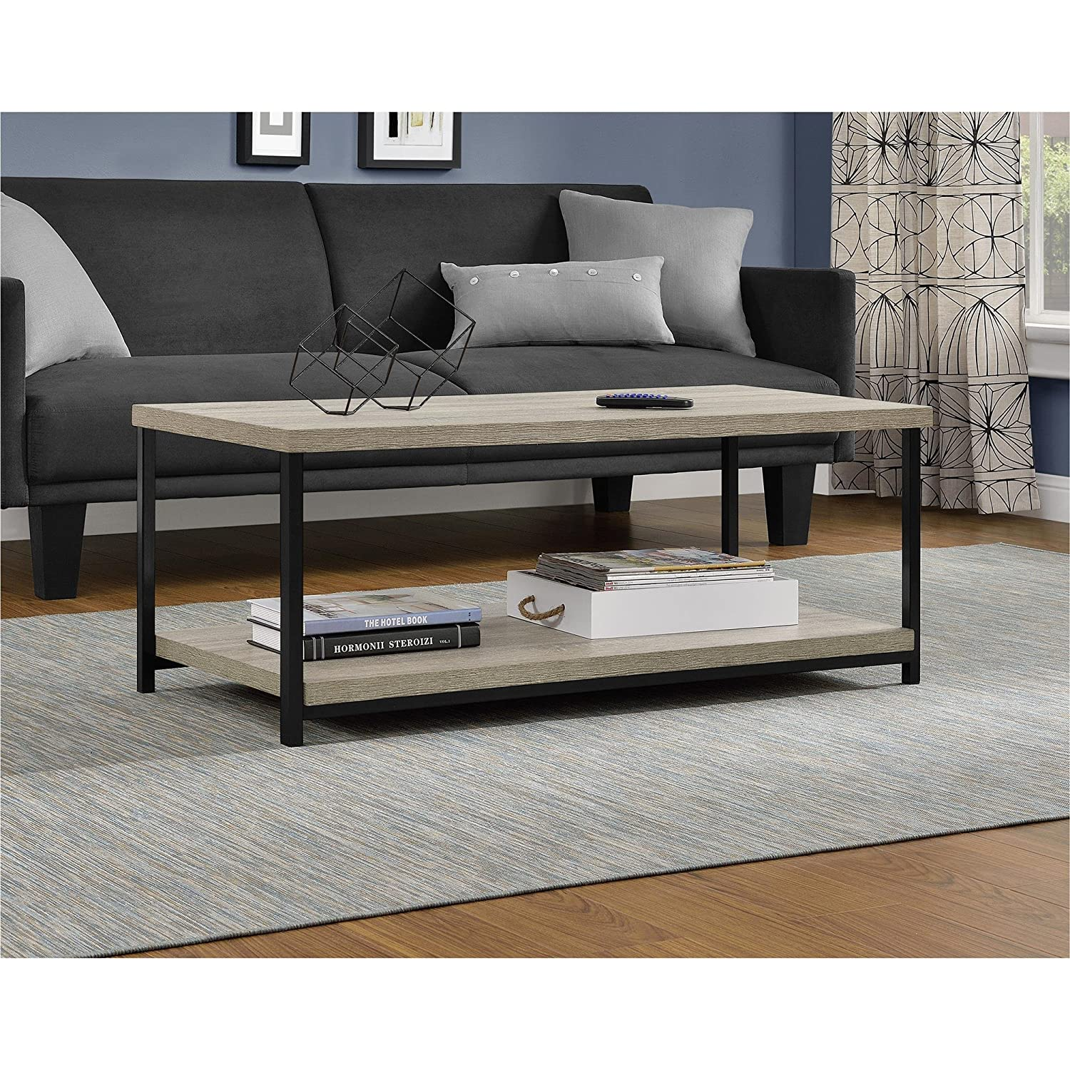 Amazon Ameriwood Home Elmwood Coffee Table Weathered Oak