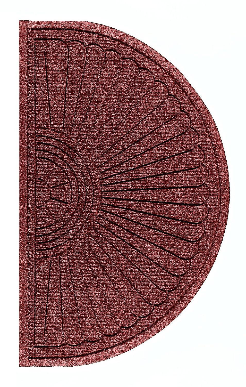 Andersen 2246 Waterhog Eco Grand Premier PET Polyester Fiber Half Oval  Entrance Indoor/Outdoor Floor Mat, SBR Rubber Backing, 1.8u0027 Length X 3u0027  Width, ...