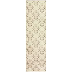 "Superior Aberdeen Collection Area Rug, 8mm Pile Height with Jute Backing, Geometric Crosshatch Nature Motif, Fashionable and Affordable Woven Rugs - 2'7"" x 8' Runner"