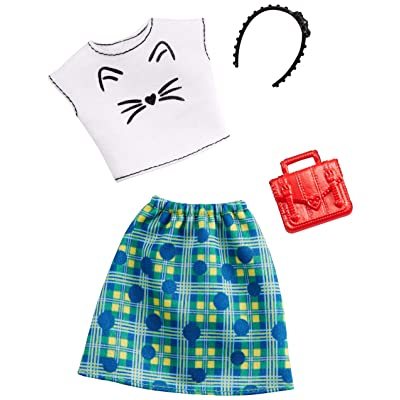 Barbie Clothes: 1 Outfit and 2 Accessories Dolls, 2, GHW75: Toys & Games [5Bkhe1107134]