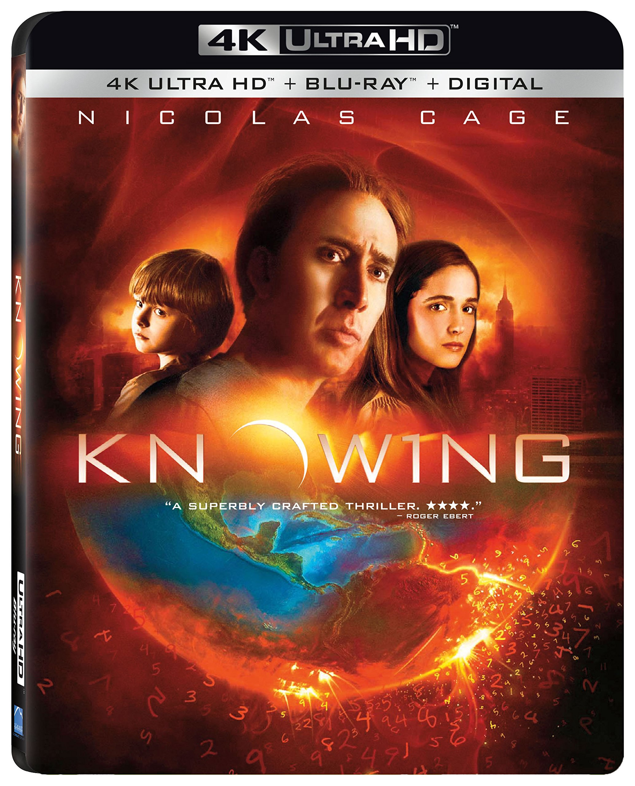 4K Blu-ray : Knowing (With Blu-Ray, 4K Mastering, Widescreen, Dolby, AC-3)