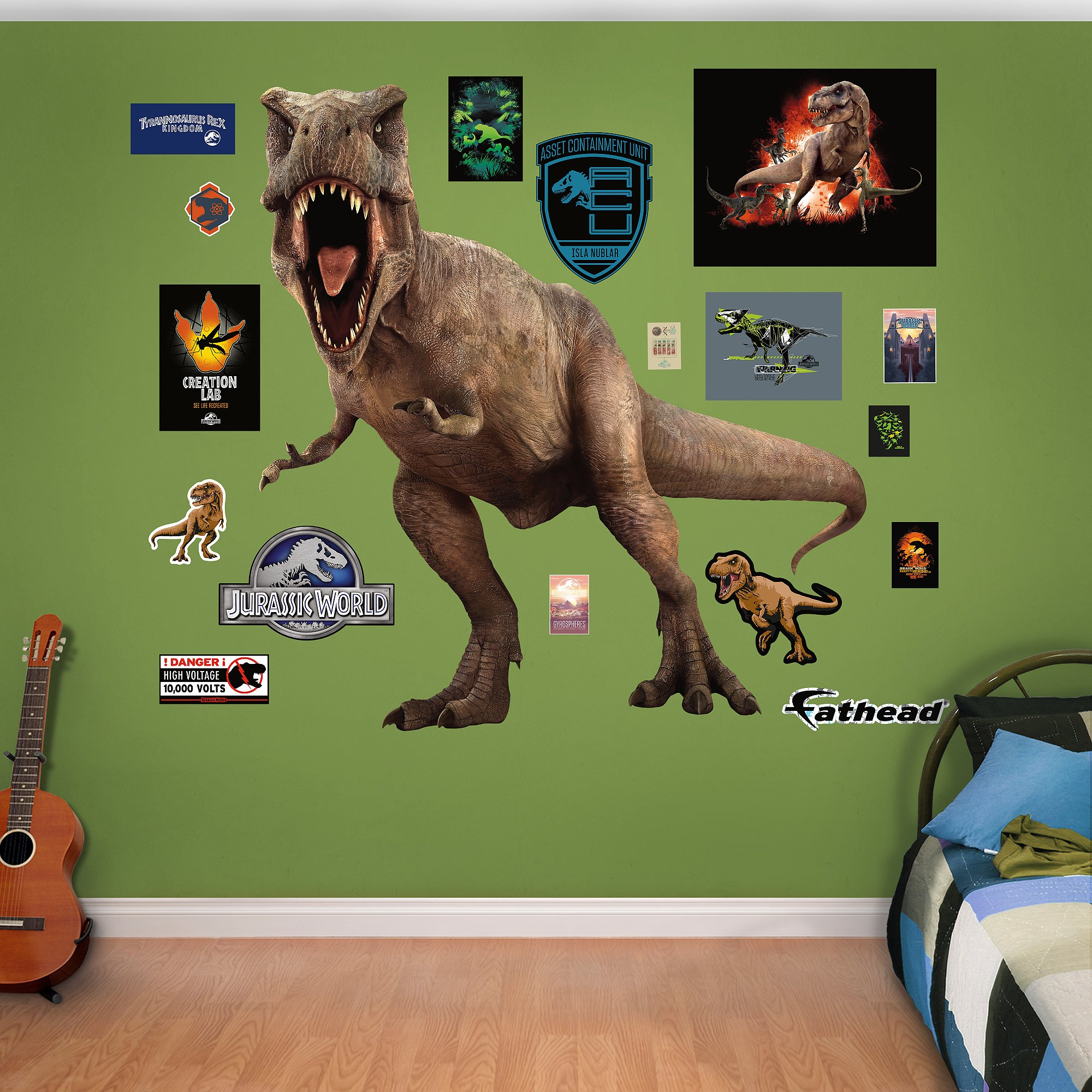 Fathead T-Rex-Jurassic World Real Decals by FATHEAD