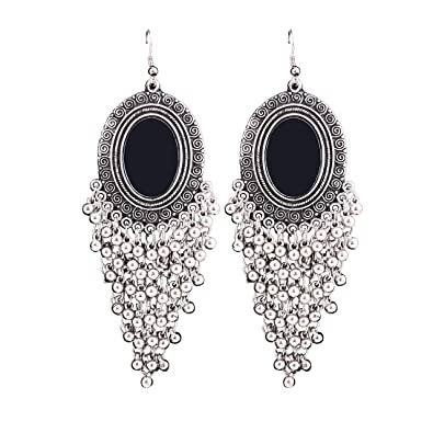 733ec10f1 Buy Aradhya Fashion Stylish Oxidised Afghani Tribal Fancy Party Wear  Earrings for Girls and Women (Silver) Online at Low Prices in India |  Amazon Jewellery ...