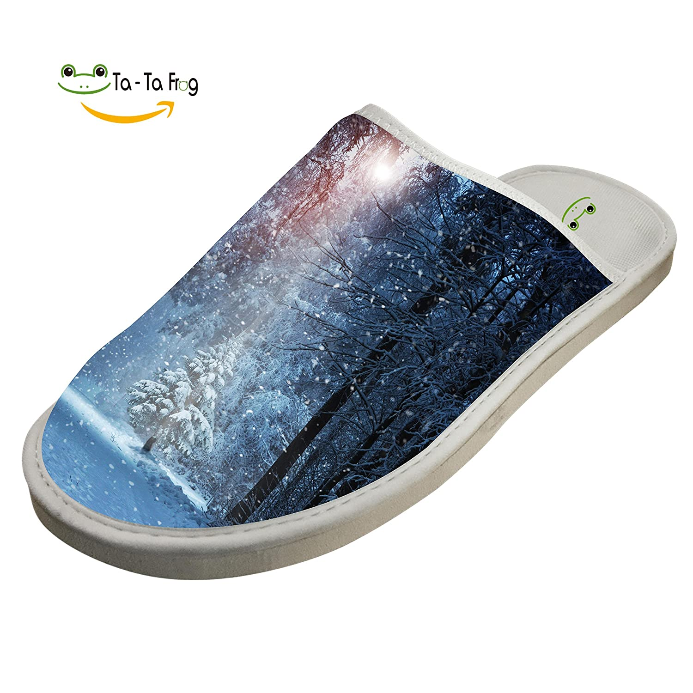 Winter Snow Sunbeam Slippers Indoor Slip-On Sandals Flat Sleeppers Shoes Original Flip Flops Adults