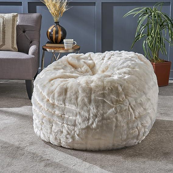Amazon.com: Laraine Furry Glam - Puf (piel sintética, 36.0 ...