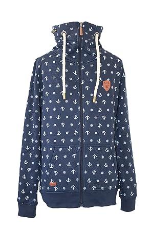 Marineblau Damen Cool Be Anker Sweatjacke Jacke Maritime Stehkragen 0aw8Eqwd