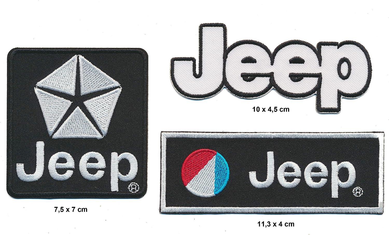 Noir Wrangler Grand Cherokee USA RG20 Lot de 3 Patchs pour Jeep pour Voiture