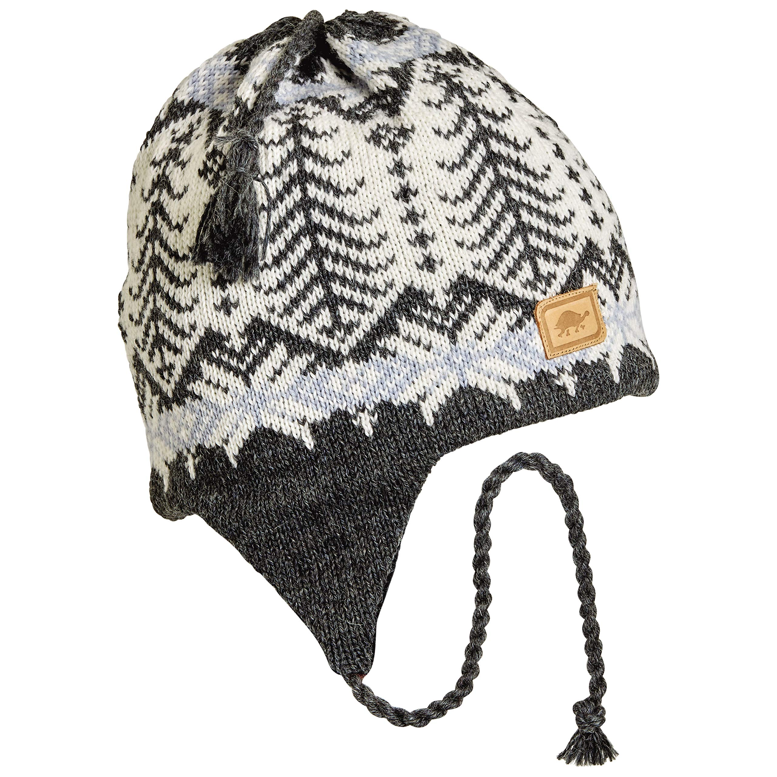 Turtle Fur Twiggly Classic Wool Ski Earflap Hat White