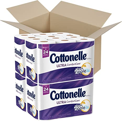 Cottonelle Ultra Comfort Care Toilet Paper 36 Family Rolls.