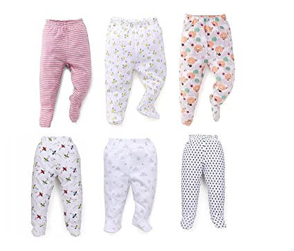 8116090b9 NammaBaby Hosiery Infants Pajama Leggings (Multicolour, 0-3 Months) - Set of