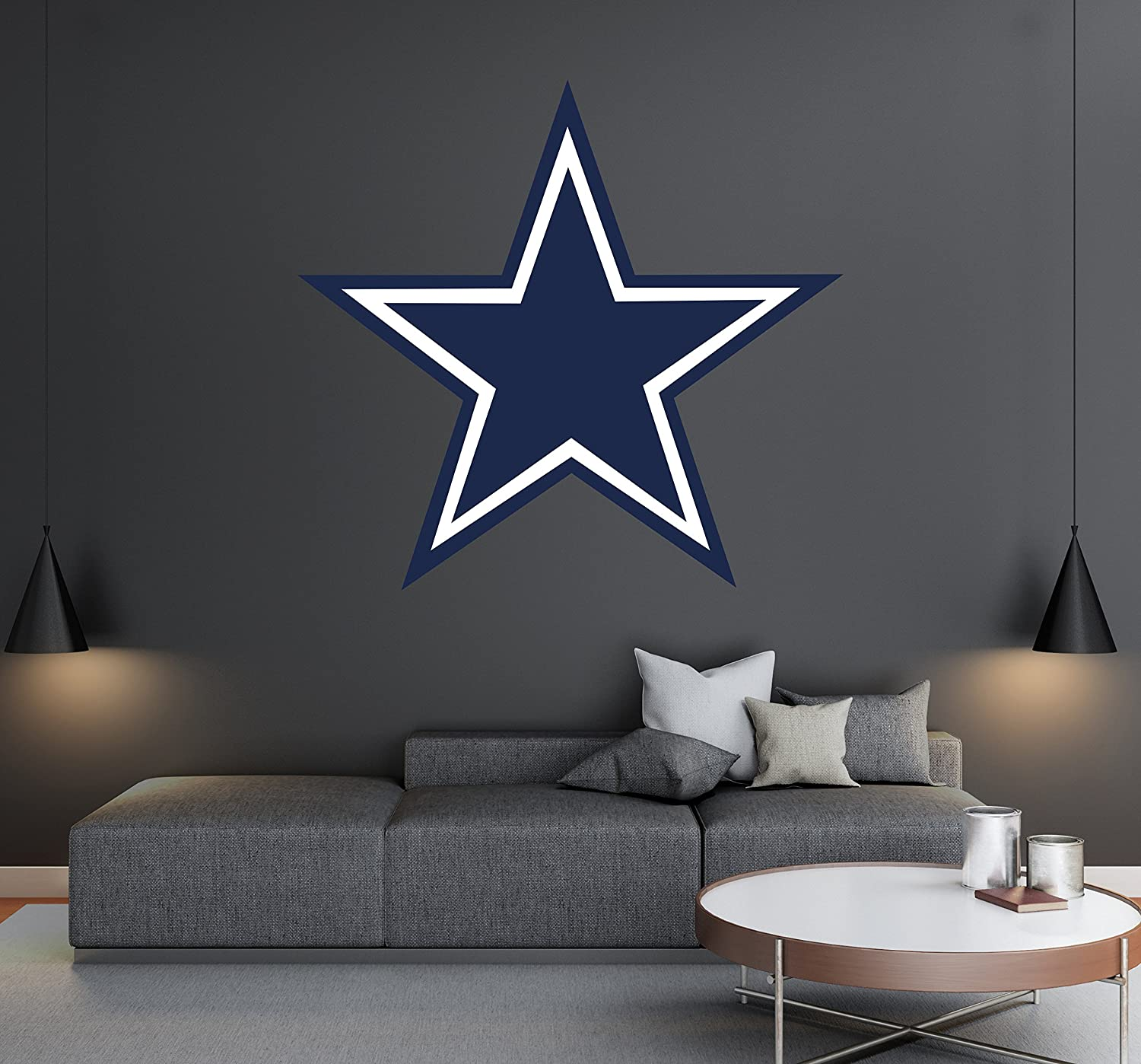 Amazon com dallas cowboys football team logo wall decal removable x20 height home kitchen