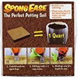 SpongEase Potting Soil 1QT compressed coconut coir for seedlings, rooting, vegetables, berries, roses, orchids, house plants, Supplies oxygen, water and your added fertilizer to roots eco friendly