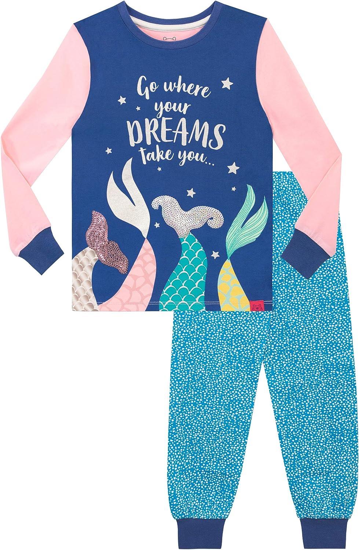 Harry Bear Pijamas para niñas Sirena Ajuste Ceñido