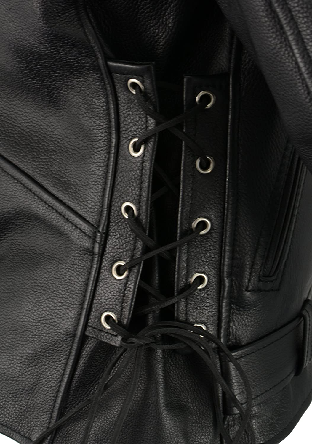 SH1011-XL-BLACK MILWAUKEE LEATHER Men/'s Classic Side Lace Police  Style Motorcycle Jacket