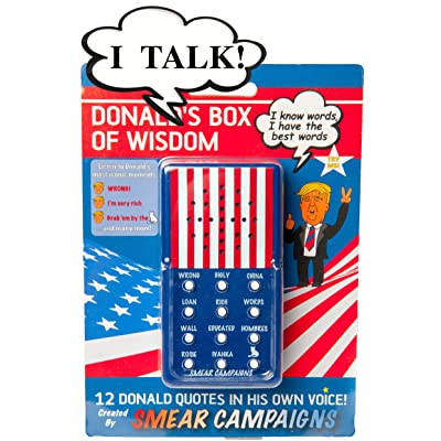 Smear Campaigns Donald Trump's Box of Wisdom Plays 12 Donald Trump Quotes - Donald Trump's Real Voice Talking -You'll Laugh Bigly, Guaranteed!: Toys & Games