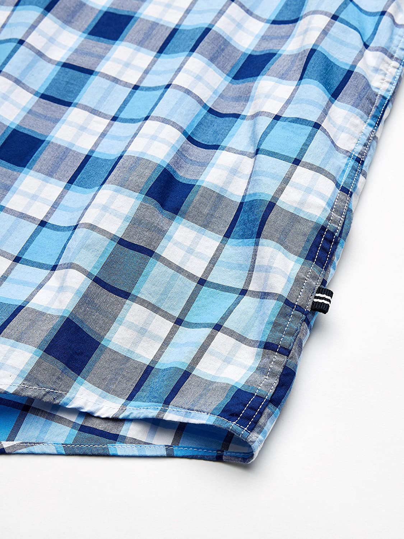 Nautica Mens Big and Tall Classic Fit Short Sleeve Stretch Plaid Button Down Shirt