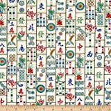 Timeless Treasures Mahjong Tiles Mahjong Fabric By The Yard