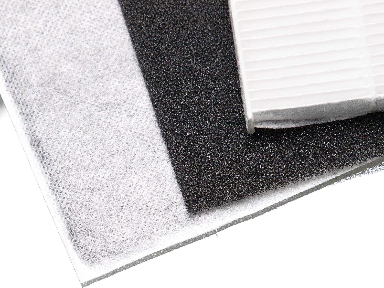 vhbw 3x filtro di ricambio compatibile con DeLonghi DAP700 DAP700E umidificatore filtro HEPA ai carboni attivi prefiltro