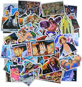 100 PC One Piece Anime cartooon PVC Waterproof Stickers Bomb Superheroes for Laptop, Notebooks, Car, Bicycle, Skateboards, Luggage Decoration