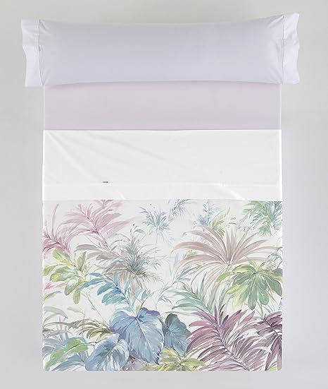 ESTELA - Juego de sábanas Tropical - Impresión Digital - Cama de 105 cm (3 Piezas) - 100% Algodón - 144 Hilos: Amazon.es: Hogar