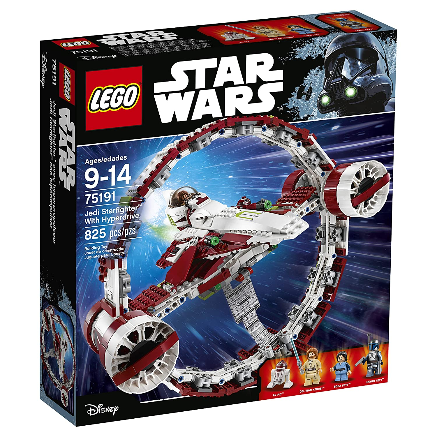 Lego star wars 75191 jedi starfighter with hyper drive construction jouets amazon fr jeux et jouets