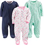 Simple Joys by Carter's Baby Girls' 3-Pack Sleep and Play