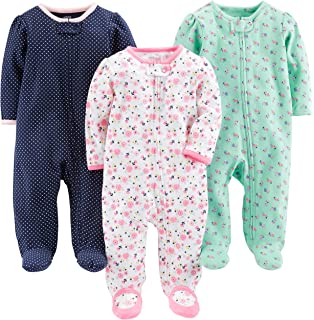95a16ca38429 Amazon.com  Carter s Girls  2-Pack Cotton Sleep and Play  Clothing