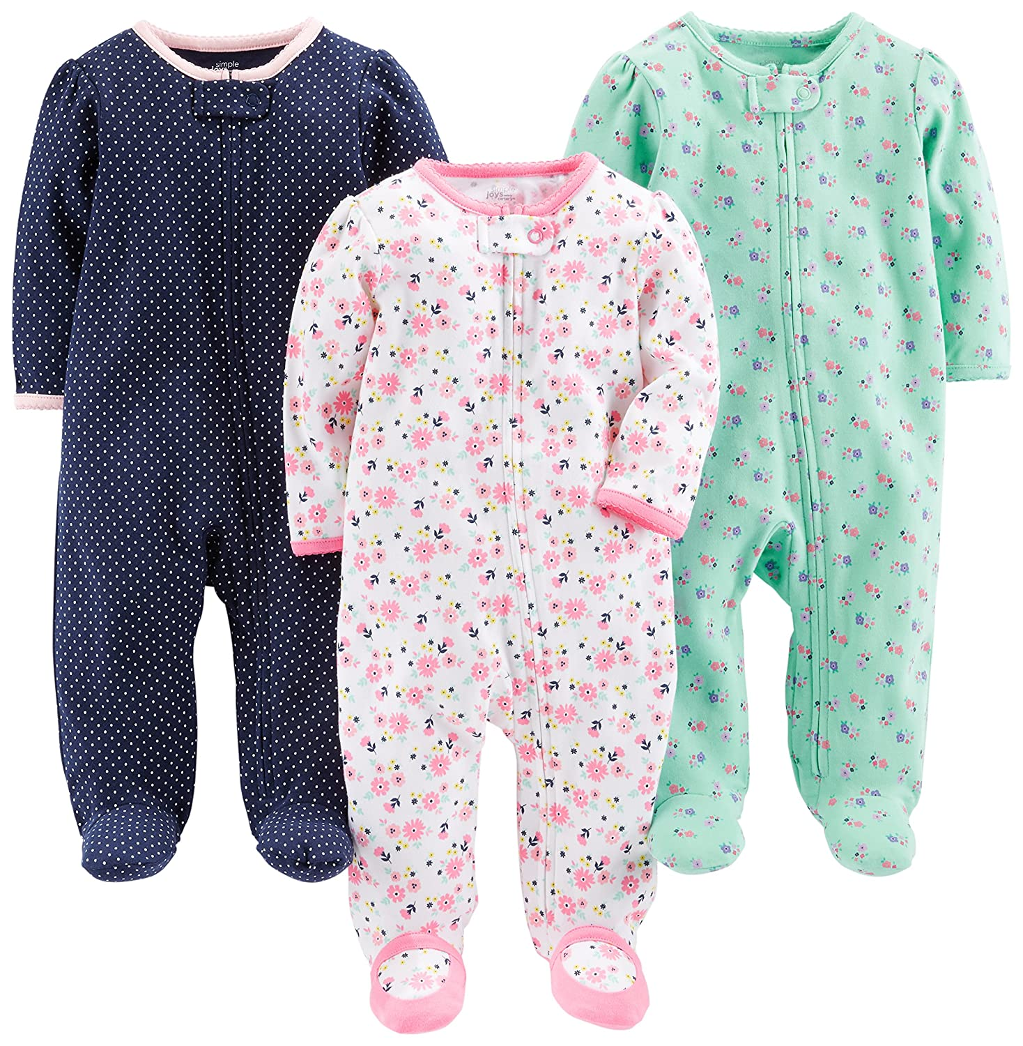 Simple Joys by Carter's Girls' 3-Pack Sleep and Play Simple Joys by Carter' s A20G040
