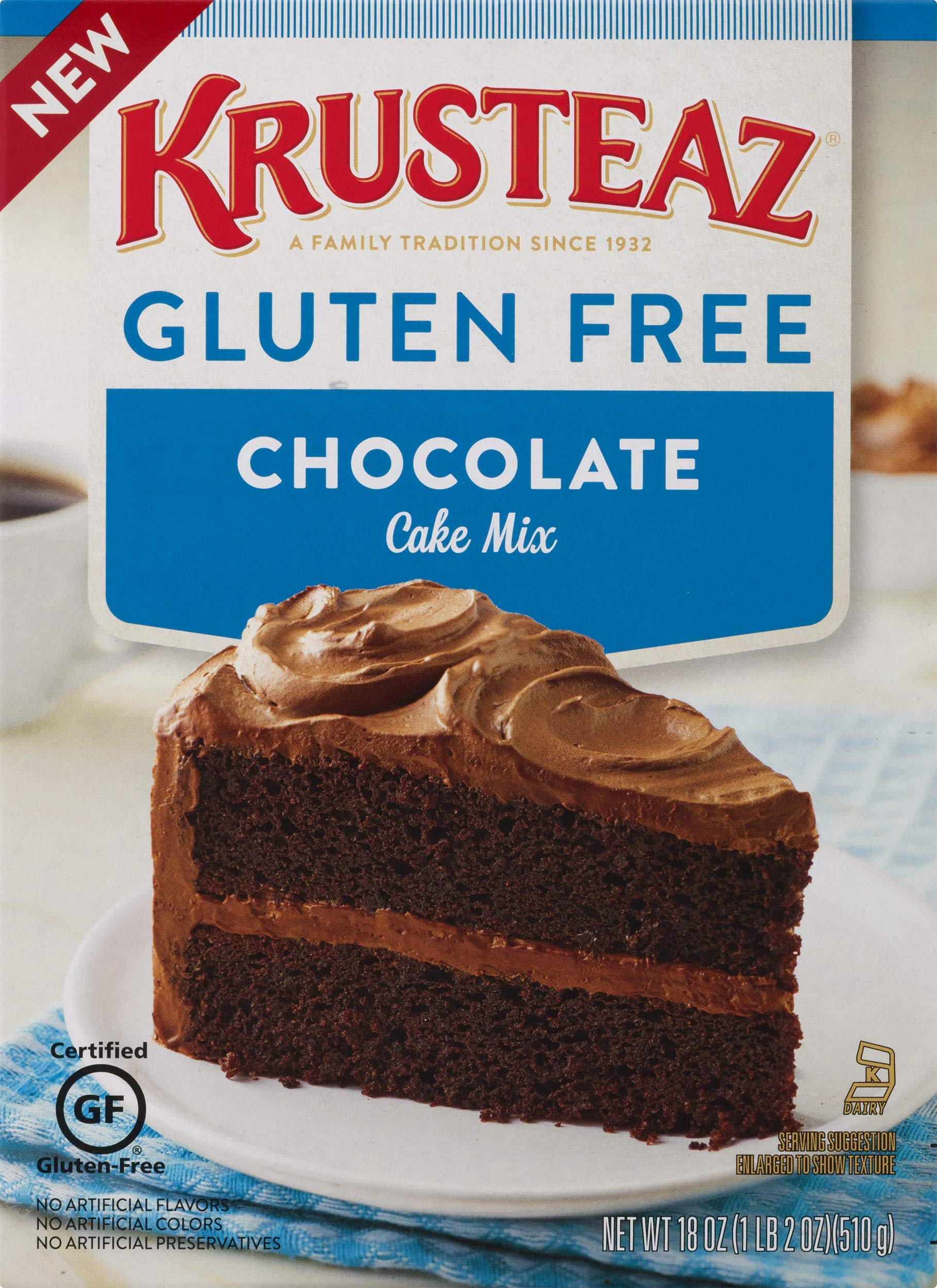 Krusteaz Gluten Free Chocolate Cake Mix, 18 Ounce, Pack of 8 by Krusteaz