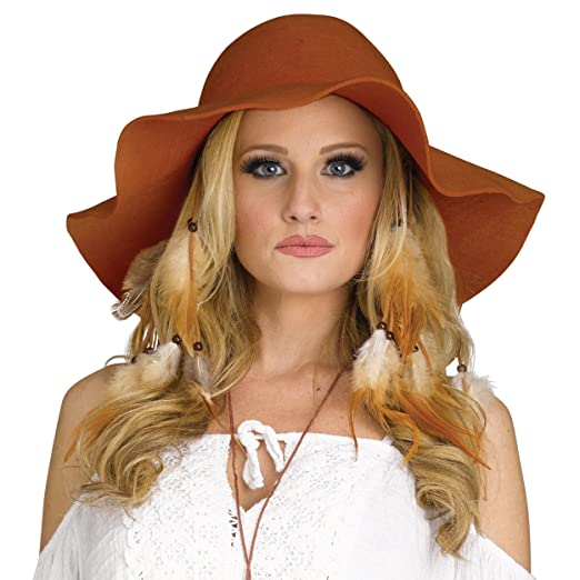 984342d1b6232d Amazon.com: Fun World Women's Floppy Hat Costume Accessory, brown Standard:  Clothing