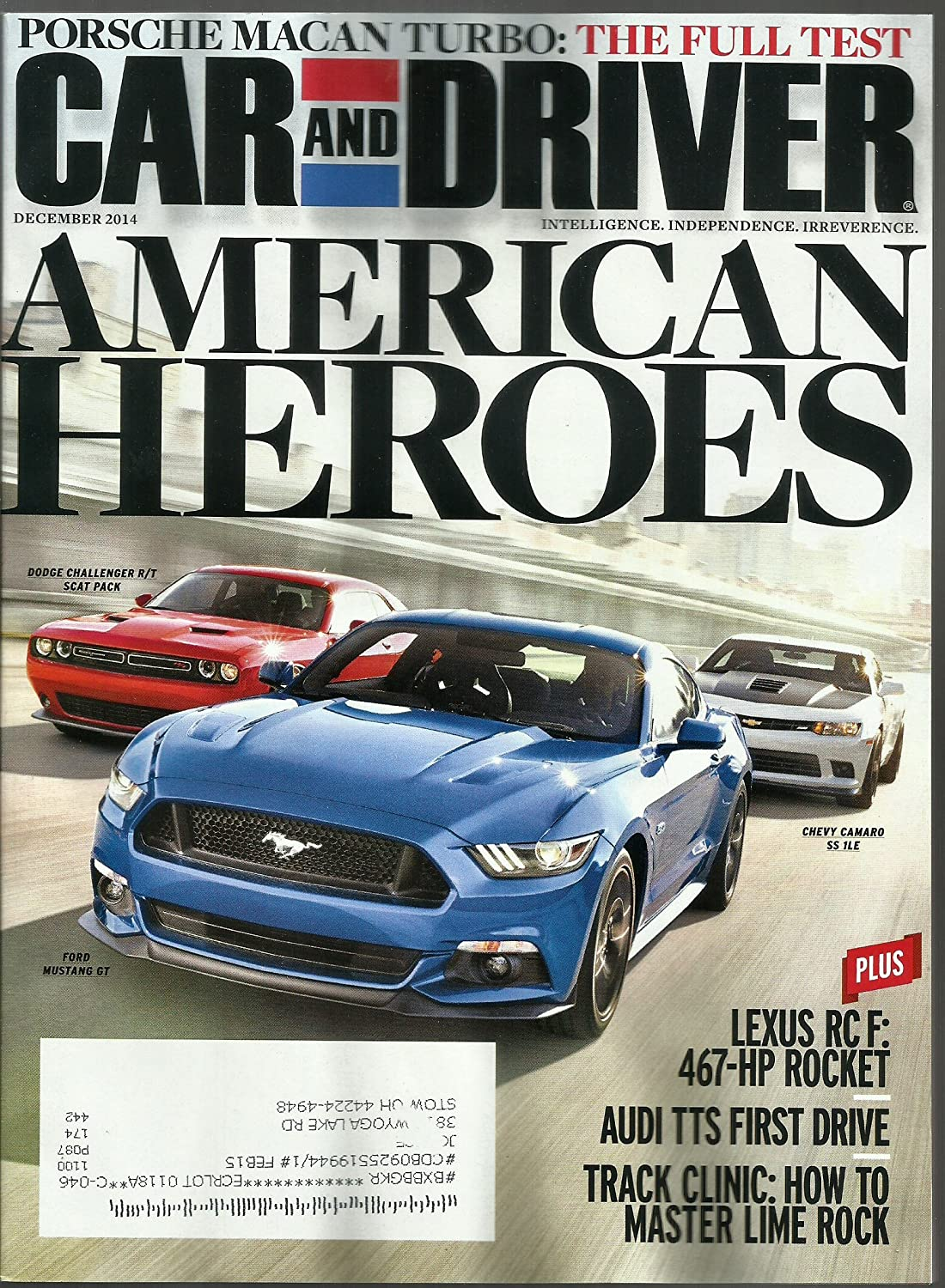 Amazon.com : Car and Driver Magazine December 2014 {Porsche Macan Turbo{}also American Heroes : Everything Else