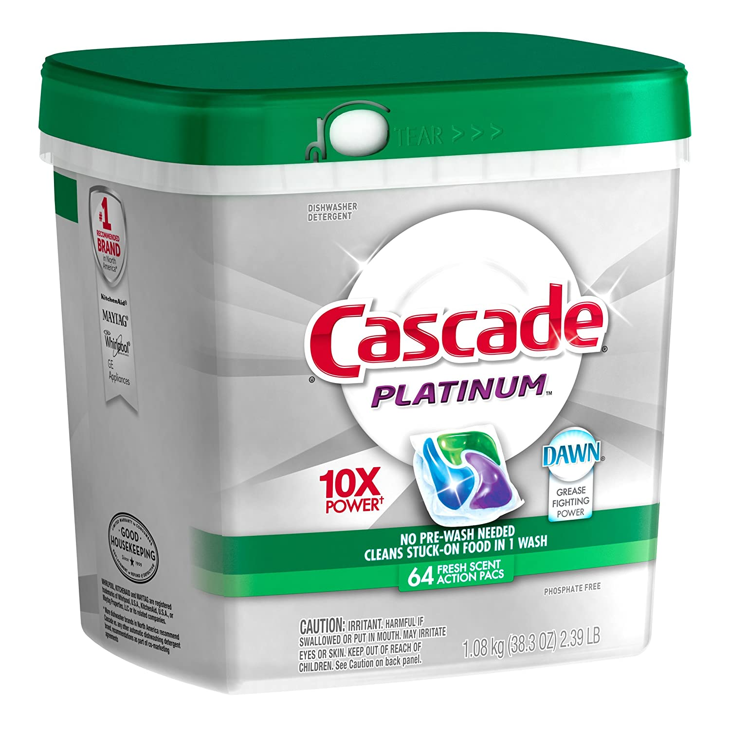 Amazon.com: Cascade Platinum ActionPacs Dishwasher Detergent Fresh Scent 64  Count  Old Version: Health U0026 Personal Care