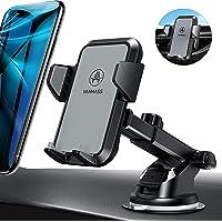 VANMASS Handyhalterung Auto Handyhalter fürs Auto Lüftung & Saugnapf Halterung 3 in 1 Smartphone Halterung KFZ 100% Silikon Schützt Universal für alle 4-7 Zoll Handys wie iPhone Samsung Huawei LG