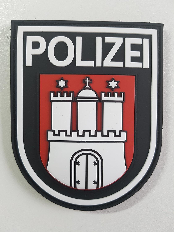 Atg Ärmelabzeichen Polizei Hamburg 3 D Rubber Patch Farbig Auto