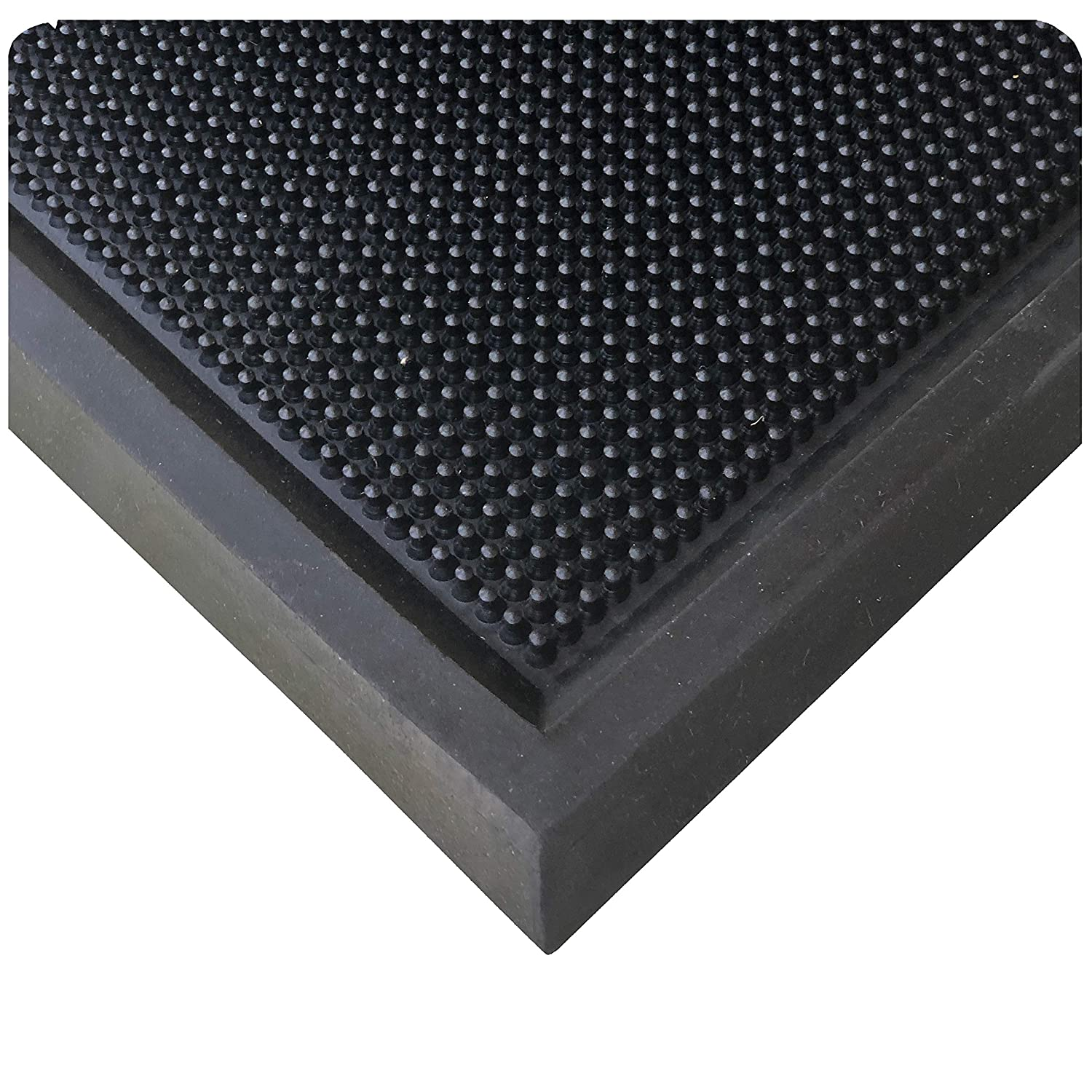 Wearwell Natural Rubber 222 Anti-Fatigue Sanitizing Footbath Mat, for Food Processing Facilities, 3/4