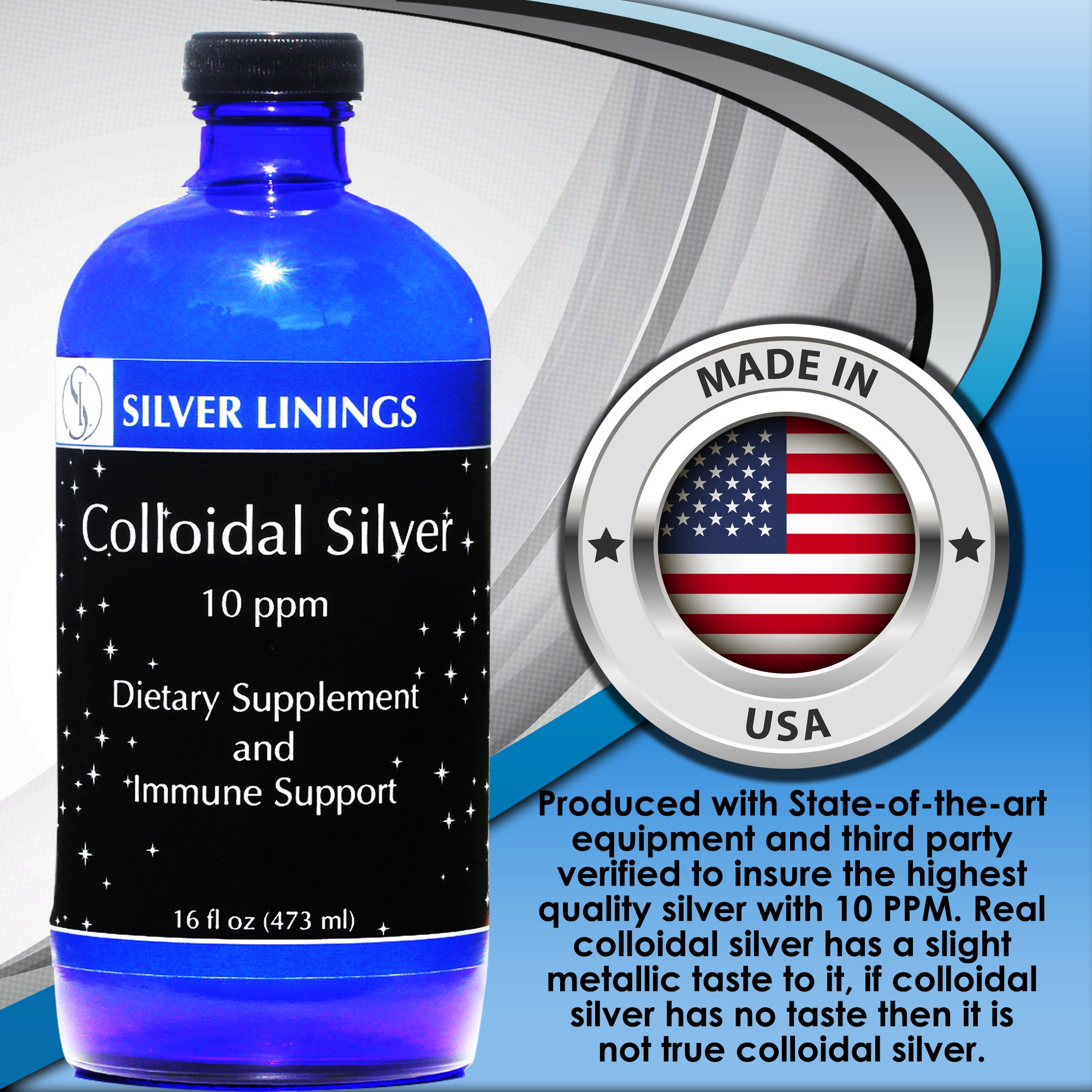 Silver Linings Colloidal Silver Hydrosol, 10 PPM, A Powerful Natural Antibiotic, and Preventative Measure Against Infection, Immune Support, Safe for Adults, Kids, Pets, and Plants, 16 oz by Silver Linings (Image #6)