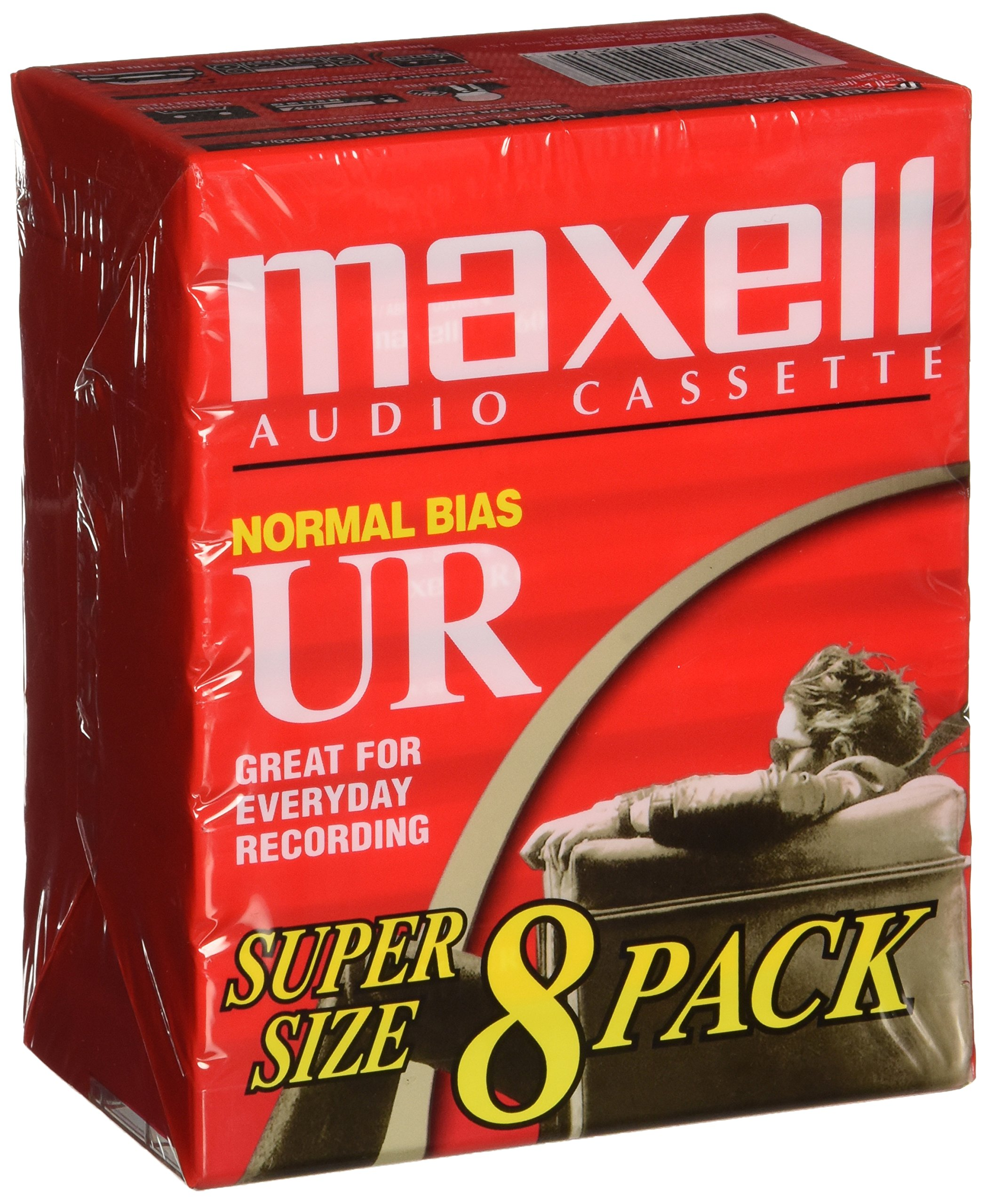 Maxell 109085 Brick Packs Optimally Designed for Voice Recording, Low Noise Surface with 60 Min Recording Time Per Tape
