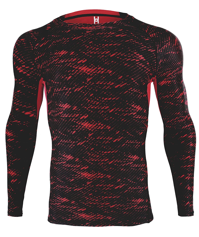 HonourSport T-shirt de Compression Manches Longues Baselayer Sport Fitness Shirt Homme