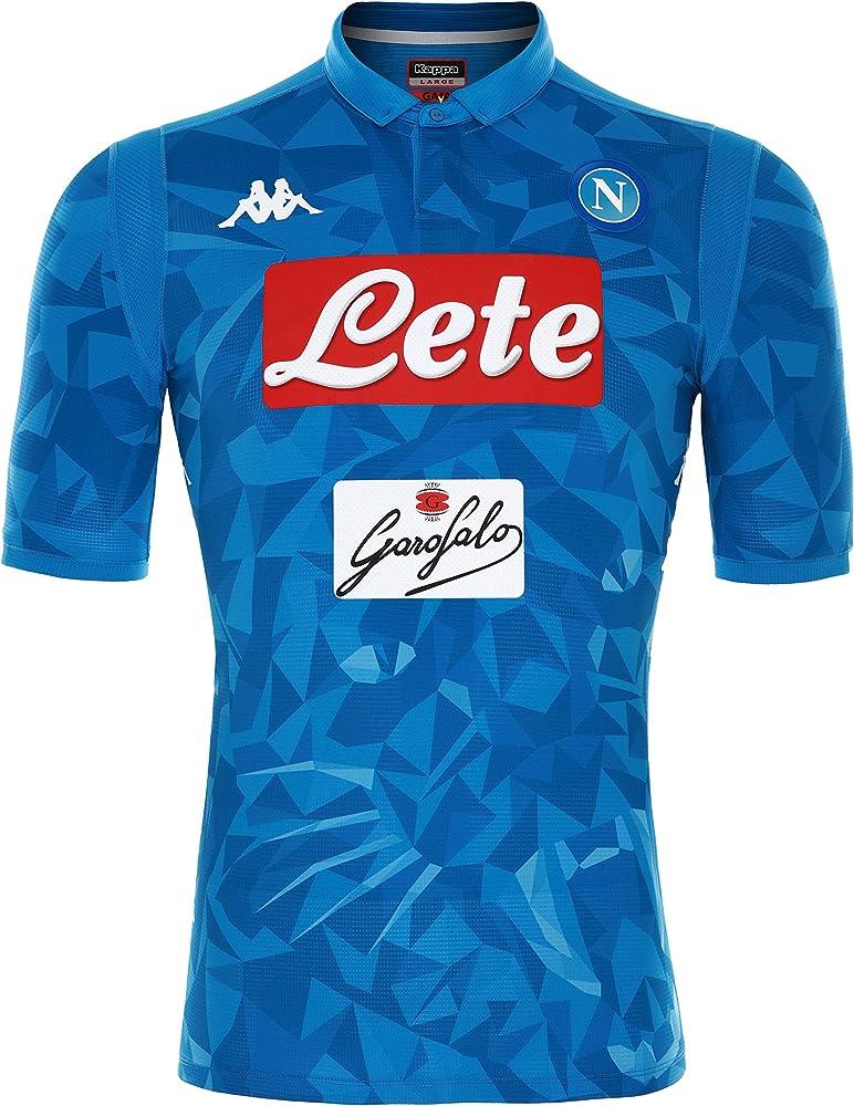 SSC Napoli Camiseta de juego local azul cielo fantasía, azul, s ...