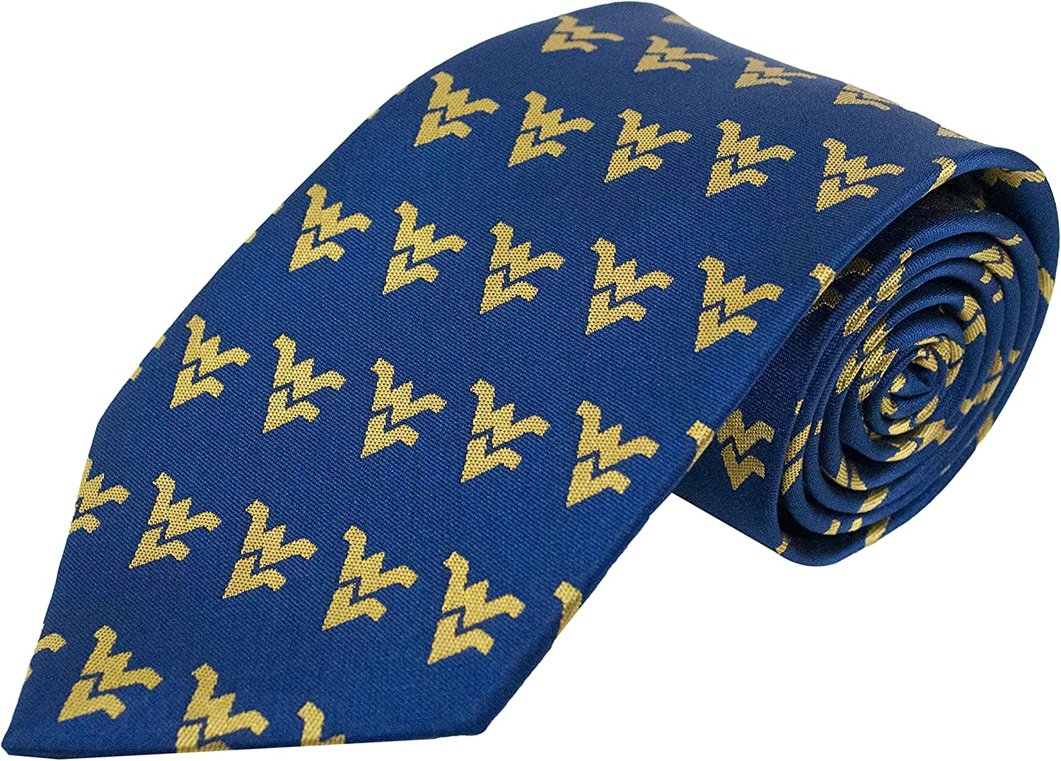 Gold Donegal Bay NCAA West Virginia Mountaineers Adult Repeating Primary Necktie One Size