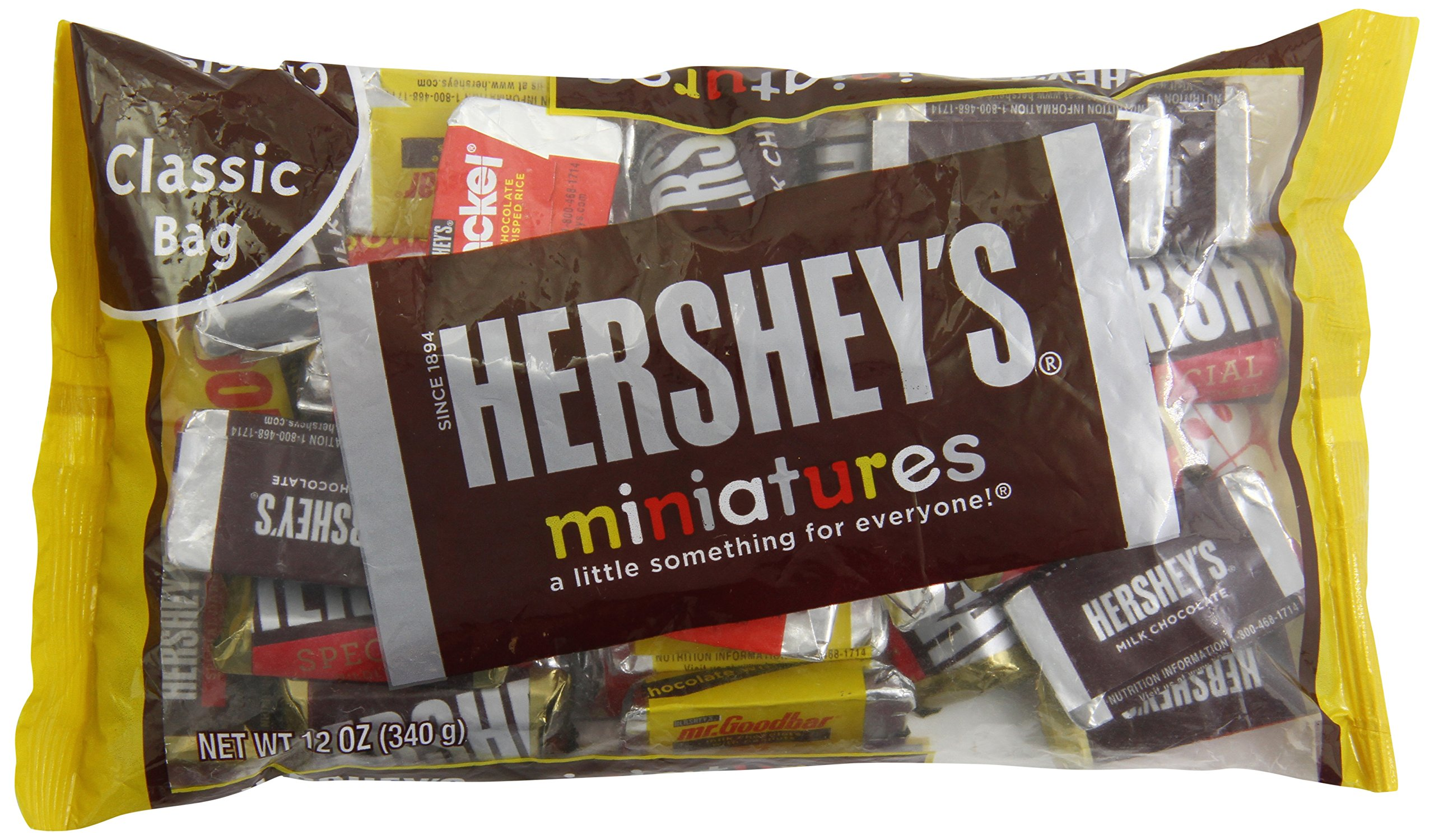 HERSHEY'S Miniatures Assortment , 12 Ounce Bag (Pack of 6)