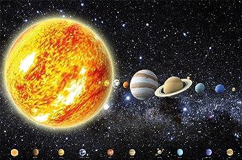 great-art Poster Sonnensystem Planeten Wandbild Dekoration Galaxie Cosmos Space Universum All Sky Sterne Galaxy Weltraum Earth   Wandposter Fotoposter Wanddeko Bild Wandgestaltung by (140 x 100 cm)