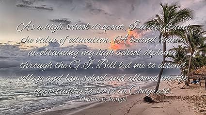 Amazon com: Charles B  Rangel - Famous Quotes Laminated