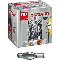 TOX Metalen holle pluggen Acrobat M4 x 32 mm verzinkt, voor bevestigingen in gipskartonplaten, 50 stuks, 035101021