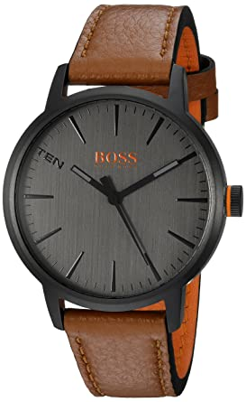 9fd7761540659 Image Unavailable. Image not available for. Color  HUGO BOSS Men s  Copenhagen Stainless Steel Quartz Watch with Leather Strap ...