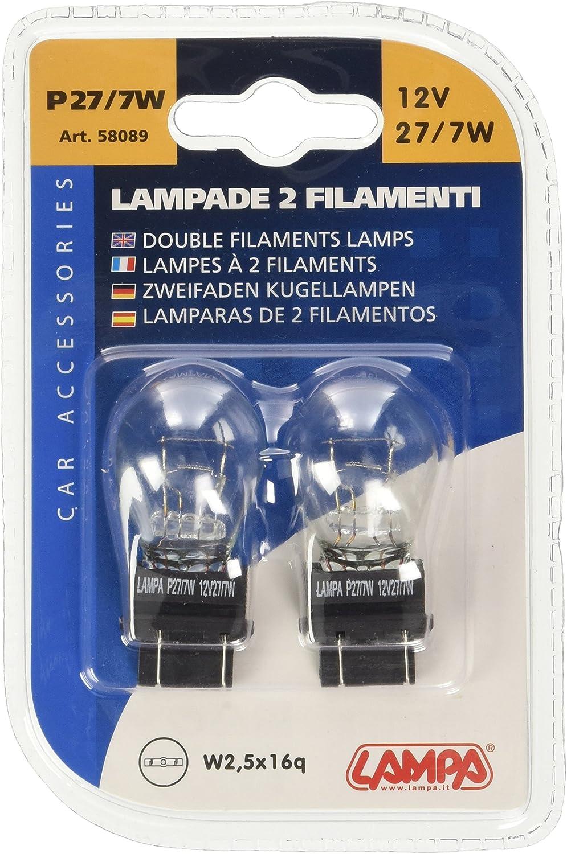 Lampa 58089- Pack de 2 bombillas, P27, 7W, 12V