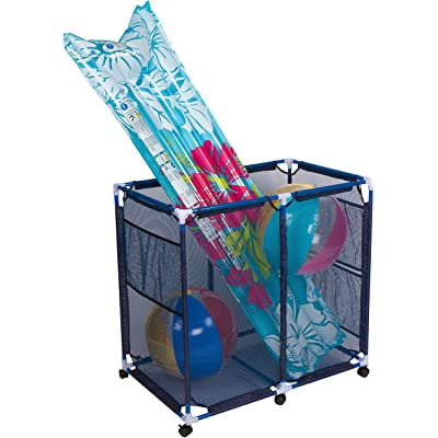 "Trademark Innovations 35"" x 24"" Rolling Pool Storage Cart for Toys and Accessories : Garden & Outdoor"