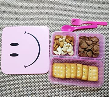 Kieana Smiley Lunch Box For Birthday Return Gifts Kids Pack Of 15